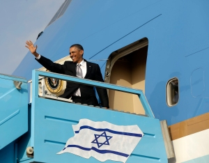 Barack Obama quittant Israël