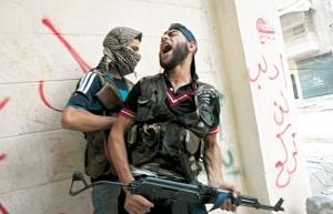 Combattants du Front Al Nosra. Photo : Agence France-Presse/ James Lawler Duggan). Le Front Al-Nostra a été inscrit par Washington dans la liste des organisations terroristes. La France propose également de la classer comme terroriste, afin d'en dissocier les éléments des autres forces de la Coalition nationale syrienne.