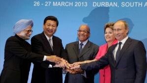 Les chefs d'États des quatre grands émergents réunis lors du quatrième sommet des Brics qui s'était tenu à New Delhi, le 29 mars 2012. Photo : Press Trust of India (PTI)