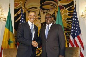 Les présidents Barack Obama et Macky Sall, au Palais présidentiel du Sénégal (photo : reuters)