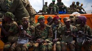 Combattants du M23 se retirant, le 1 décembre 2012 de Goma (Est du Congo) qu'ils avaient prise un mois plus tôt, suite à la signature d'un cessez-le-feu. Photo : PressTv