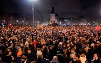Place de la République, Paris. Photo AFP